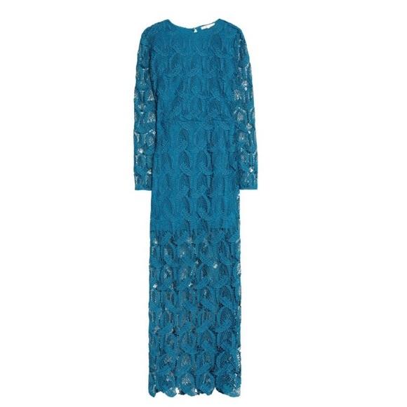 bc528f2e22 Maje Cutout Guipure Lace Maxi Dress Size 1
